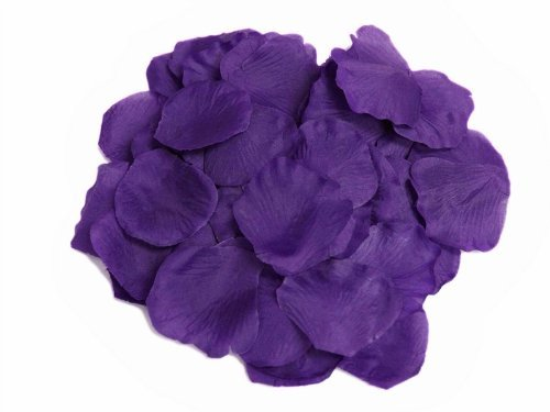 BalsaCircle 4000 Silk Rose Artificial Petals Supplies Wedding Decorations - Purple