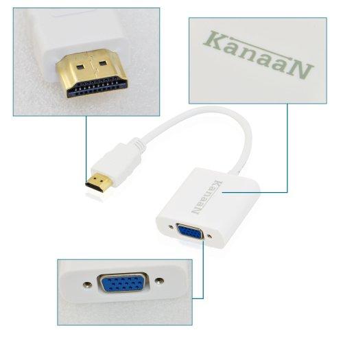 Cavo Adattatore e Convertitore Universale da HDMI a VGA - Supporto HDTV, FullHD, segnale fino a 1080p | Convertitore video da digitale ad analogico - LEICKE KanaaN