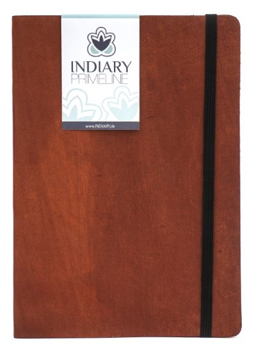 Indiary Prime Line Luxury Notebook Genuine Leather And Handmade Paper A5 - Brown