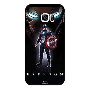 Hamee Marvel Civil War Captain America Iron Man Licensed Hard Back Case Cover For Samsung Galaxy S7 Edge Cover - Design 14