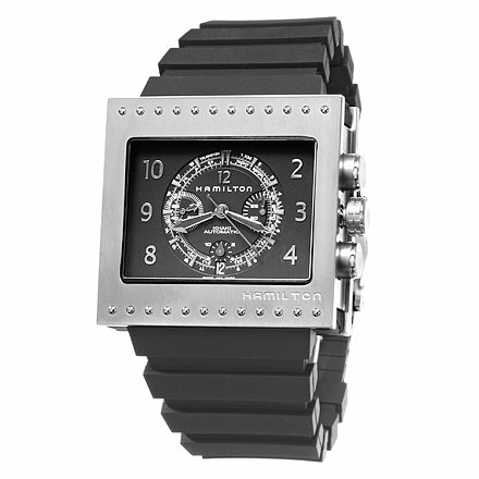 Hamilton Khaki Action Code Breaker Chrono Men's Titanium Case Rubber Strap Black Dial Swiss Automatic Movement Chronograph, Telemeter, Tachymeter Watch H79686333