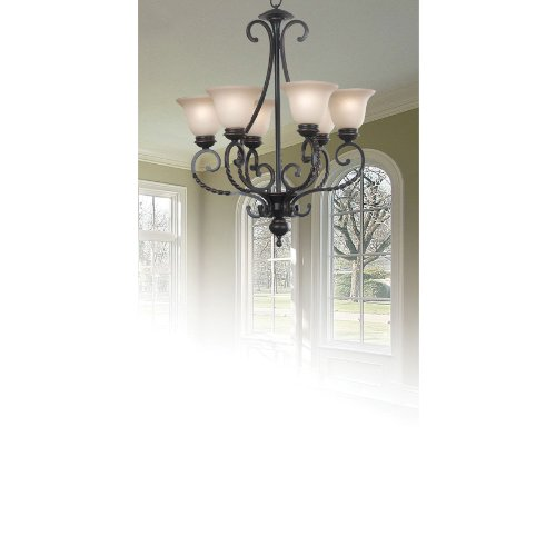 kenroy Home 10196ORB Oliver 6-Light Chandelier, Oil Rubbed Bronze