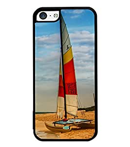 iFasho Boat in a beach Back Case Cover for Apple iPhone 5C