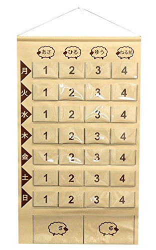 Medicine calendar one week (sheep) [made in Japan] (Brown)