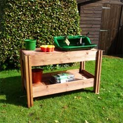 Fsc Wooden Garden Potting Table Work Bench Ideal For