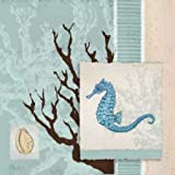 Aquarius Blue Sq II By Brent, Paul Art Print On Canvas 25x25 Inches