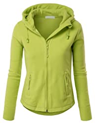 LE3NO Women's Zip Up Fleece Hoodie