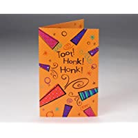 Ready Set Blow Party Horn Birthday Card
