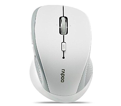 Rapoo 3900P 5.8Ghz Wireless White Ergonomic 4D Scroll Wheel Power Efficient Laser Engine Mouse