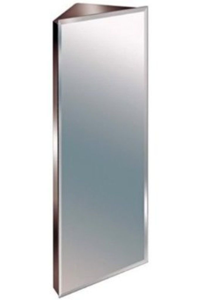 Zanex Bevelled Edge Stainless Steel Mirror Bathroom Corner Cabinet 3 SIZES (1200MM)       Customer reviews and more information