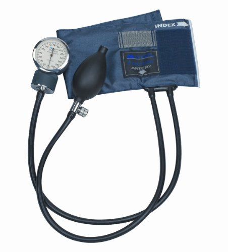Mabis/Dmi Healthcare Precision Series Aneroid Sphygmomanometer With Calibrated, Blue Nylon Cuff, Child front-801691