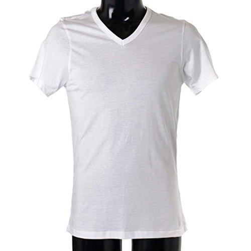 (カルバンクライン)Calvin Klein メンズ VネックTシャツ【3枚組】 Slim Fit V-Neck (3 Pack) U4072 100/White S [並行輸入品]