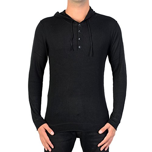 Japan rags-Japan rags JOHN-Pullover uomo, colore: nero nero L