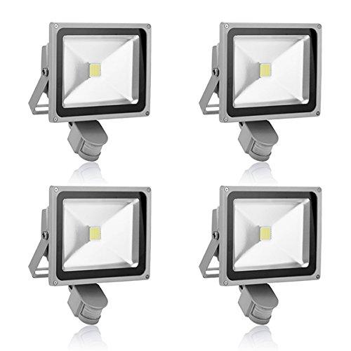 4-Pack 30W Led Induction Pir Infrared Motion Body Sensor Flood White Lights Lamp 240V Ac Cool White