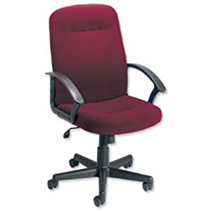 Trexus High Back Manager Armchair W500xD480xH465 580mm Backrest H620mm Burgundy       Office ProductsCustomer review