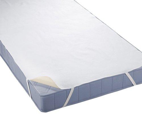 Biberna 809600-001-142 Coprimaterasso impermeabile a mollettoni con SilverCare 90x200 cm, colore: Bianco