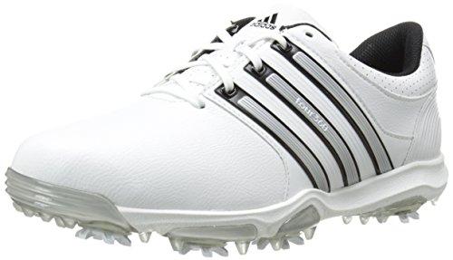 adidas Men's Tour360 X Cleated Golf Shoe,Running White/Black/Silver Metallic,9.5 W US