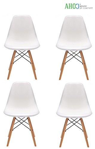 Teamyy-Wohnzimmerstuhl-Esszimmerstuhl-Brostuhl-4-x-Designer-Kunststoff-Eiffel-Wei