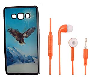 Sureness Back Cover For Samsung Galaxy A7 (3D Cover) With J5 (OG) Headphone
