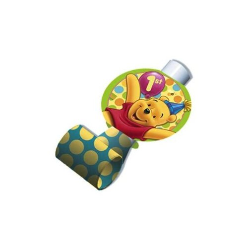 Winnie the Pooh Balloon 1st Birthday Blowouts / Favors (8ct) - 1