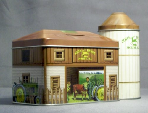 John Deere Barn Tin Coin Bank