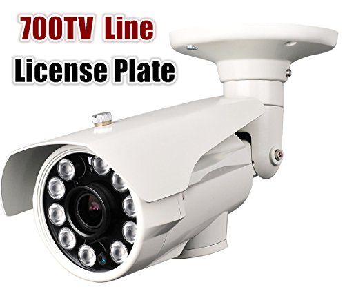Hq-Cam® 700Tv Lines High Resolution Camera 10Ir Large Leds Sony Effio 5-50Mm Vari-Focal Lens Cctv Day And Night License Plate Camera (Outdoor/Indoor) Ir Distance:250Ft