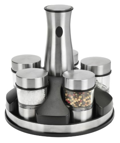 Kalorik Stainless Steel Rechargeable Cordless Spice Carousel Set front-190564