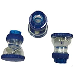 SHRUTI Taps / Bib cock Water Softner ,water cleaner ,water purifier, water Filter - Pack of 3 (Code-2127 Blue)