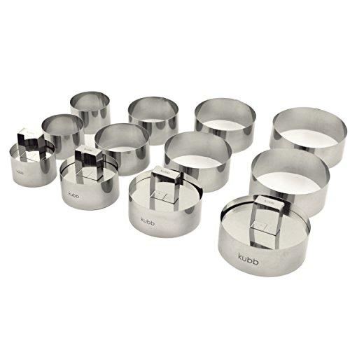 Kubb K009 Coffret 12 Cercles + 4 Poussoirs Acier Inoxydable(16 pièces )