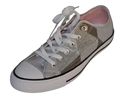Converse Womens Ct Oxford Silver Sneaker 8.5 M