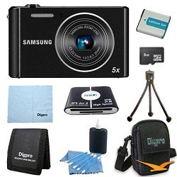 Samsung 8 GB Bundle ST76 16 MP 5X Compact Digital Camera - Black