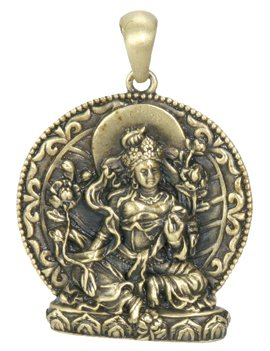 Green Tara Pendant - Collectible Medallion Necklace