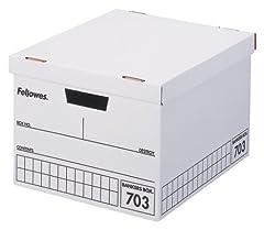 フェローズ 703バンカーズBox A4ファイル用 黒 3枚パック 内箱 5段積重ね可能 対荷重30kg
