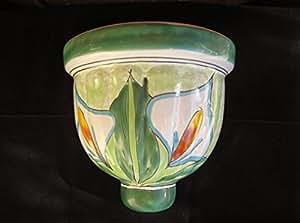 Mexican Pottery Wall Sconces : Amazon.com : Authentic Puebla Fine TALAVERA Ceramic 8