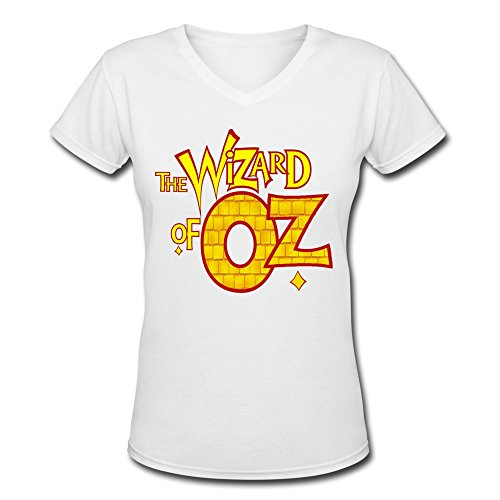 Qincent Womens V-neck Normal Fit Shirt The Wizard Of Oz