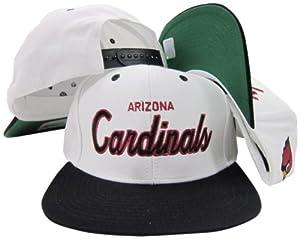 Arizona Cardinals White Red Script Two Tone Adjustable Snapback Hat Cap by Reebok