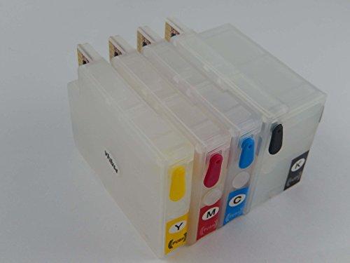 vhbw CISS Leer Druckerpatrone Tintenpatrone Set B/C/M/Y mit Chip wie HP 950, 950XL, 951, 951XL