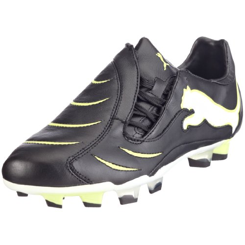 Puma PowerCat 1.10 FG Mens K Leather Football Boots / Cleats - Black & Lime, (weiss (white-pumaroyal-teamgold02)), 39, Schwarz (Black-White-Wildlime03), 40