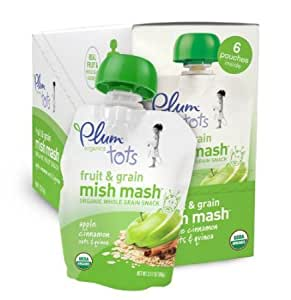 Amazon.com: Plum Organics Tots Fruit and Grain Mish Mash, Apple