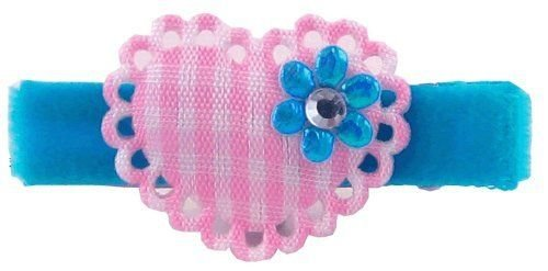 Bow Allure Lantana No Slip Heart Hair Clip For Baby, Toddlers And Girls, Pink