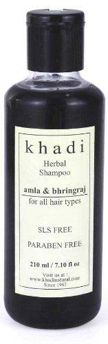 Khadi Herbal Amla & Bhringraj Shampoo Sls & Paraben Free (For Hair Growth) 210Ml.