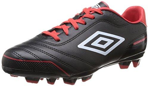 Umbro  Classico Fg,  Scarpe da calcio uomo Nero Noir (137-Noir/Blanc/Rouge) 41
