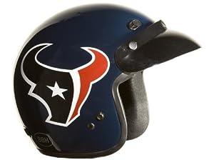 Brogies Bikewear NFL Houston Texans Motorcycle Three Quarter Helmet (Black, X-Small) by Brogies Bikewear