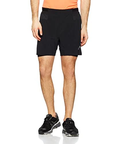 Asics Shorts Fujitrail 2N1 [Nero]