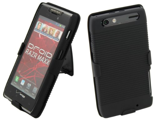 Aduro Shell Holster Combo Case w/Belt Clip for Razr Maxx
