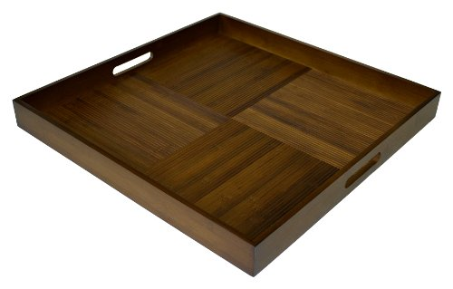 Simply Bamboo Extra Large Square Espresso Serving Tray