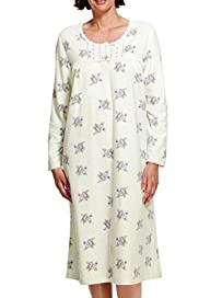 Floral Fleece Nightdress [T37-4876-S]