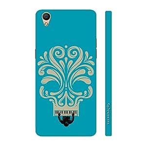Enthopia Designer Hardshell Case Blue Piano Skull Back Cover for Oppo R9