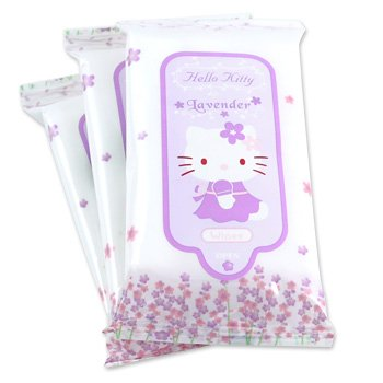 Hello Kitty Cleaning Wipes Travel Pack: Lavender