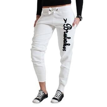 Brubaker NY Eagle pantalon de sport jogging bas survetement pour femme, blanc, S